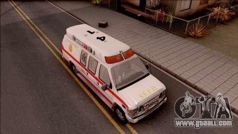 Ford E-350 SFFD San Francisco Ambulance for GTA San Andreas right view