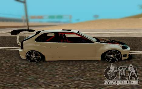 Honda Civic 98 Hatch Rocket Bunny for GTA San Andreas left view