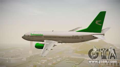 Boeing 737-300 Turkmenistan Airlines for GTA San Andreas right view