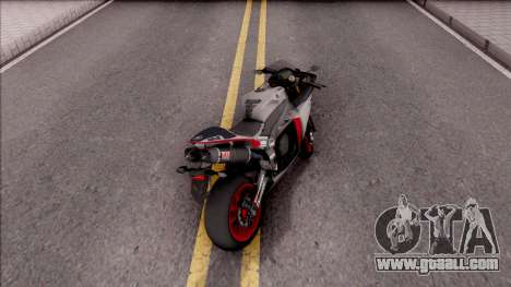 Yamaha YZF-R1 Stickers for GTA San Andreas back left view