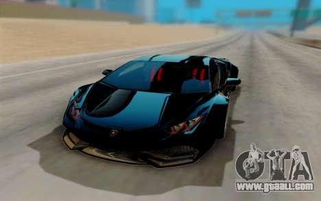 Lamborghini Huracan Custom for GTA San Andreas back view