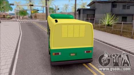 GTA V Brute Bus for GTA San Andreas back left view
