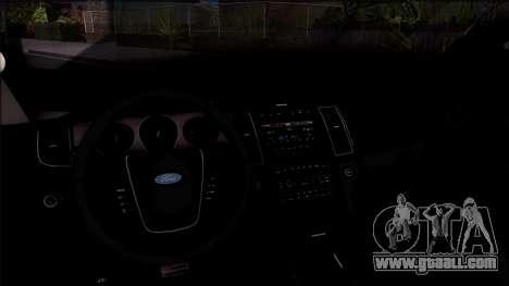 Ford Explorer Spanish Police for GTA San Andreas inner view