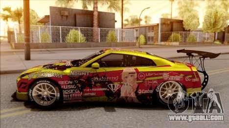 Nissan GT-R R35 Itasha COG LW Performance for GTA San Andreas left view
