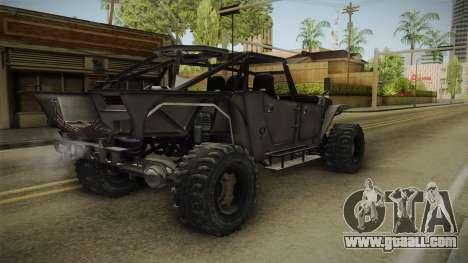Ghost Recon Wildlands - Unidad AMV No Minigun v2 for GTA San Andreas back left view