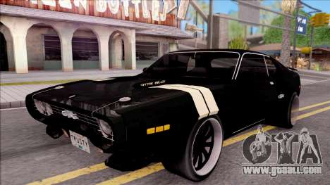 Plymouth GTX Roadrunner 1972 Fate Of Furious 8 for GTA San Andreas