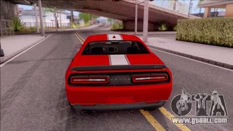 Dodge Challenger Hellcat Consept for GTA San Andreas back left view