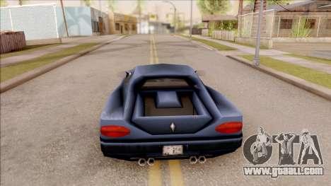 Cheetah from GTA 3 for GTA San Andreas back left view