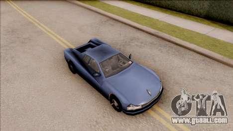 Cheetah from GTA 3 for GTA San Andreas right view