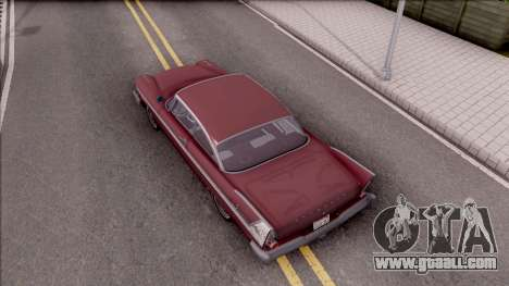 Plymouth Belvedere 1958 HQLM for GTA San Andreas back view