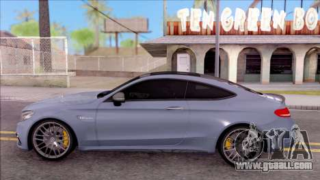 Mercedes-Benz C63S AMG Coupe 2016 v2 for GTA San Andreas left view