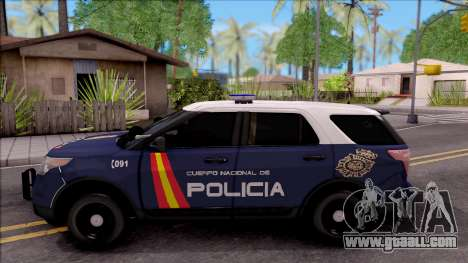Ford Explorer Spanish Police for GTA San Andreas left view