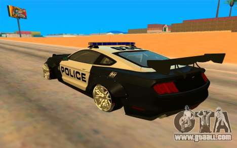 Ford Mustang GT 2015 Police Car for GTA San Andreas back left view
