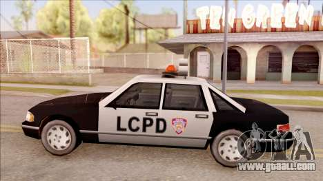 Police Car from GTA 3 for GTA San Andreas left view