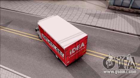 Zastava Daily 35 Transporter for GTA San Andreas back view