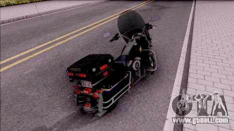 Harley Davidson FLH 1200 Police 1988 for GTA San Andreas back left view