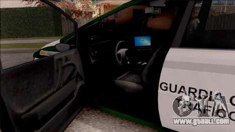 Dinka Perennial MPV Spanish Police for GTA San Andreas inner view
