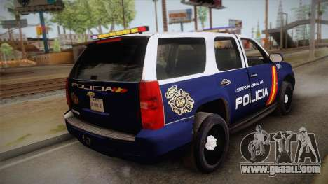 Chevrolet Tahoe Spanish Police for GTA San Andreas left view