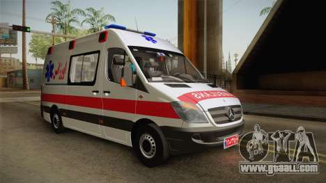 Mercedes-Benz Sprinter Iranian Ambulance for GTA San Andreas back left view