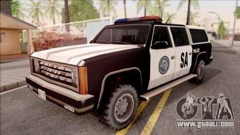 Police Rancher 4 Doors for GTA San Andreas