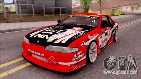 Nissan Silvia S14 Drift Nishikino Maki Itasha for GTA San Andreas