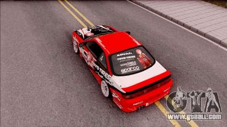 Nissan Silvia S14 Drift Nishikino Maki Itasha for GTA San Andreas back view
