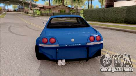 Nissan Skyline R33 Tuned for GTA San Andreas back left view