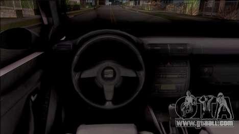 Seat Toledo 1.9 TDi for GTA San Andreas inner view