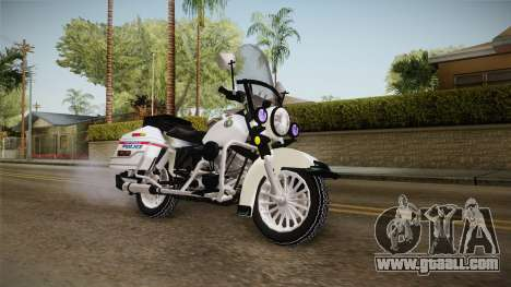 Harley-Davidson Police Bike YRP for GTA San Andreas right view
