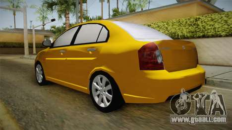 Hyundai Accent 2011 for GTA San Andreas back left view