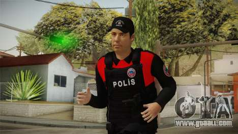 Turkish Police Officer with Kevlar Vest for GTA San Andreas