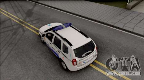 Renault Duster Spanish Police for GTA San Andreas back view