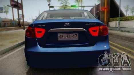 Hyundai Elantra 2008 for GTA San Andreas back view