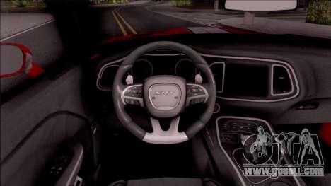 Dodge Challenger Hellcat Consept for GTA San Andreas inner view