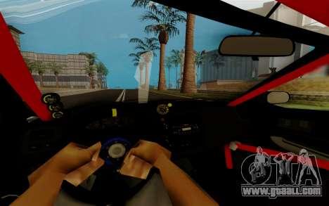 Honda Civic 98 Hatch Rocket Bunny for GTA San Andreas inner view