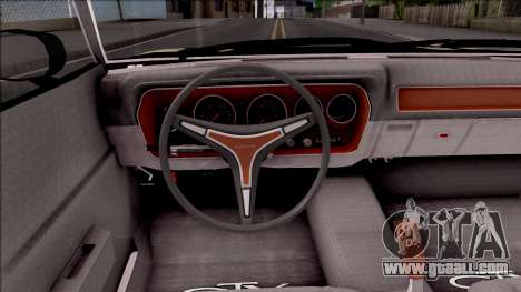 Plymouth GTX Roadrunner 1972 Fate Of Furious 8 for GTA San Andreas inner view