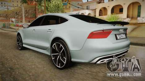 Audi RS7 for GTA San Andreas left view