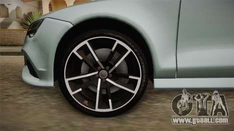 Audi RS7 for GTA San Andreas back view