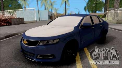 Chevrolet Impala LS 2017 for GTA San Andreas