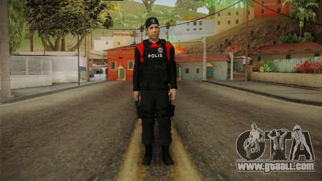 Turkish Police Officer with Kevlar Vest for GTA San Andreas second screenshot