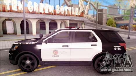 Ford Explorer Police Interception for GTA San Andreas left view