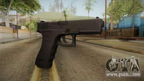 Glock 17 3 Dot Sight Ultraviolet Purple for GTA San Andreas