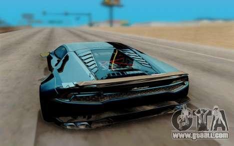Lamborghini Huracan Custom for GTA San Andreas right view
