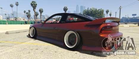 GTA 5 Nissan 240SX BN Sports III left side view