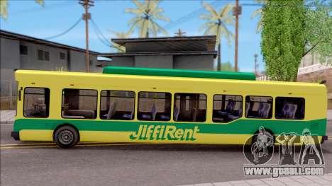 GTA V Brute Bus for GTA San Andreas left view