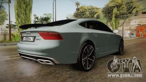 Audi RS7 for GTA San Andreas back left view