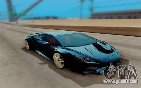 Lamborghini Huracan Custom for GTA San Andreas