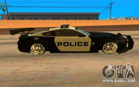 Ford Mustang GT 2015 Police Car for GTA San Andreas left view