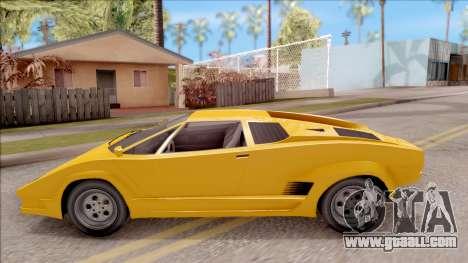 GTA V Pegassi Torero IVF for GTA San Andreas left view
