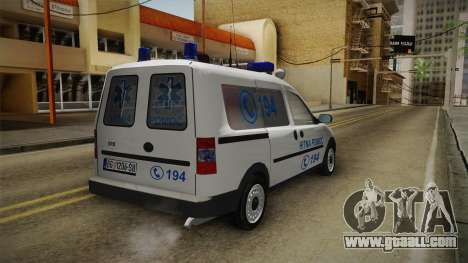 Opel Combo Ambulance for GTA San Andreas back left view